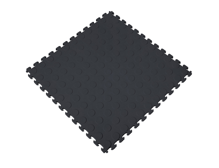 Pvc Interlocking Tiles Raised Coin Pattern