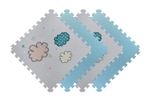 "Reversible Children's Designer 4 Pack .47"" Foam Mats"
