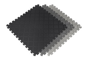 Raised Diamond Pattern PVC Tiles 6 Pack