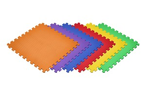 "NEW Solid Color Rainbow 6 Pack 1/2"" Foam Mats"
