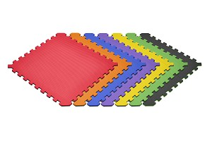 "NEW Truly Reversible Rainbow 6 Pack 1/2"" Foam Mats"
