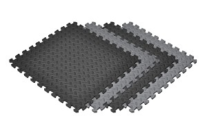 "NEW Solid Color Diamond Plate 6 Pack 1/2"" Foam Mats"