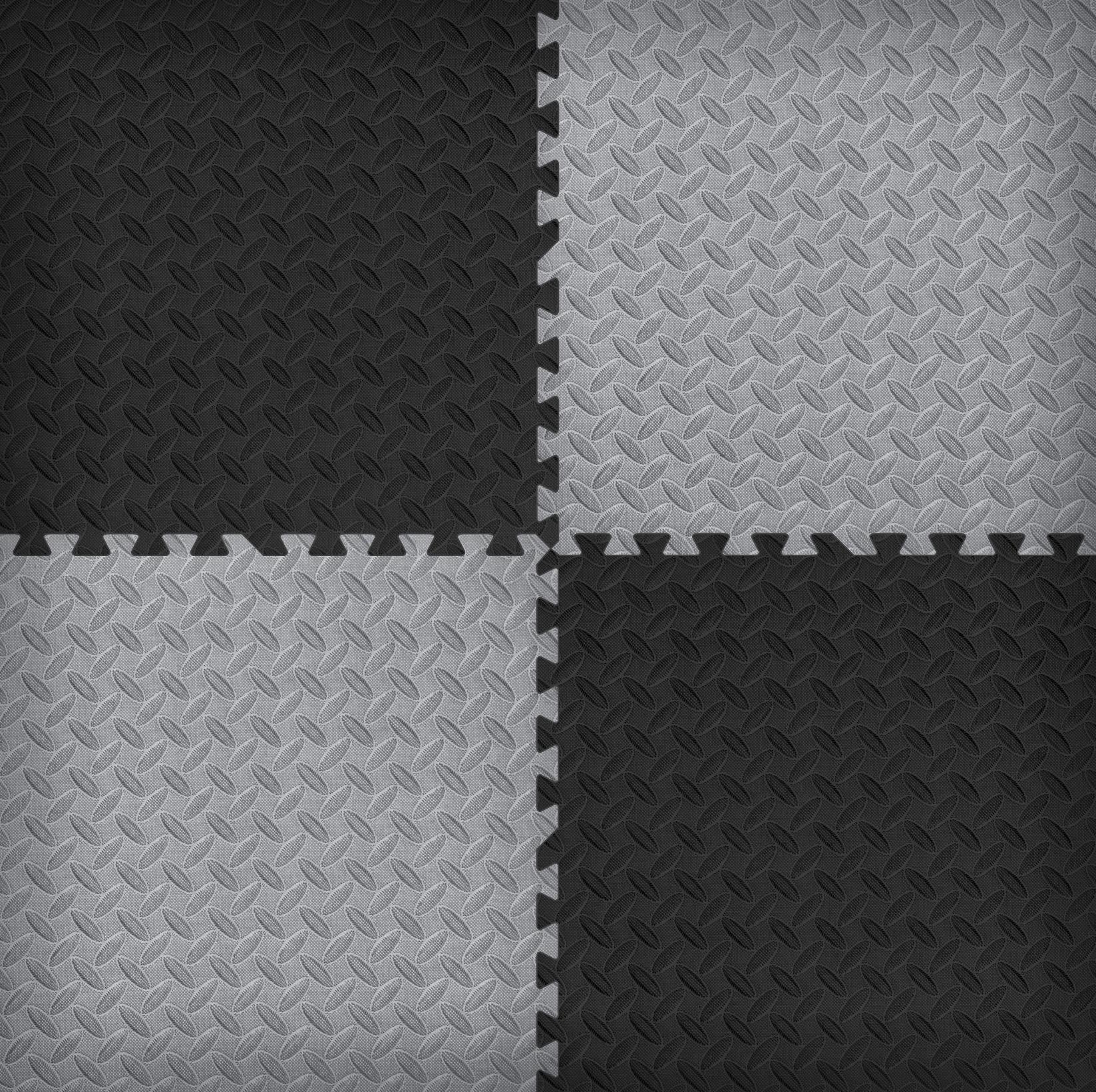 New Norsk Diamond Plate Foam Floor Mats